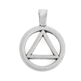 Wholesale Charms Wholesale Prices - 50pcs a lot Factory Price Antique Silver Plated Circle and Triangle Charms Pendants for Jewelry Making