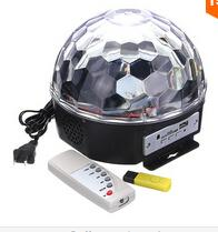 Wholesale Voice Activated Remote Control - 9 colors MP3 with Bluetooth Crystal Magic Ball Stage Effect Light DJ Club Disco Party Lighting Music With USB Disk Remote Control