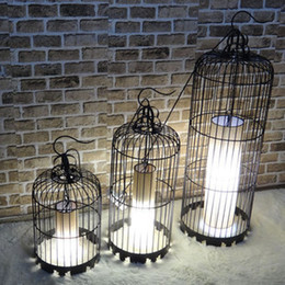 Wholesale Chinese Iron Lanterns - Wrought iron chandelier bird cage lamps aisle lights lamp Chinese lantern decorations ornaments creative pastoral living room Eu