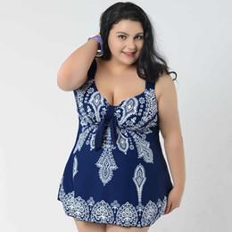 Wholesale dress for fats - Wholesale- Plus Size Swimwear Women 2017 Floral One Piece Swimsuit For Fat Women Swim Dress Skirt Bathing Suit Super Large 4XL 8XL Swimsuit