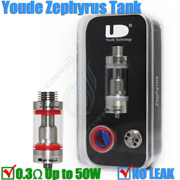 Wholesale Wholesale Sub Ceramic - UD Youde Zephyrus Tank 5ml Sub Ohm 0.2-0.5 0.3 50W OCC Dual RBA Clone Top filling Full SS Replacement Ceramic Coil 100% NO LEAK goblin DHL
