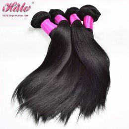 Wholesale European Hair Extentions - Dyeable Peruvian Straight 6A Peruvian Hair 4 Bundles Unprocessed Virgin Hair Extentions Very Cheap Wholesale Human Hair Double Weft