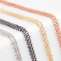 Wholesale Magnetic Lockets Wholesale - 10pcs lot Free Shipping 2016 New fashion 65CM Alloy Metal Rolo Link Chain fits Magnetic Glass Floating Lockets Chain Necklace