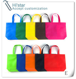 Wholesale Tie Dye Bags Wholesale - 20pcs lot Customized Logo Printing gift bag eco friendly Reusable non woven Shopping bags Christmas bag