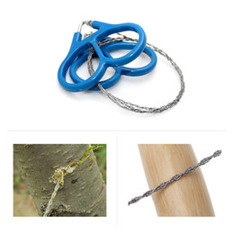 Wholesale Wire Saws - New Arrival Plastic Ring Steel Wire Saw Scroll Emergency Outdoor Hunting Camping Hiking Survival Tool