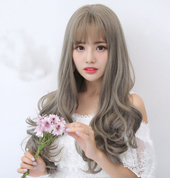 Wholesale Sell Wigs Wholesale - Best Selling long wave full wig simulation human hair loose wave full wig front lace wig & glueless simulation lace wigs with bangs