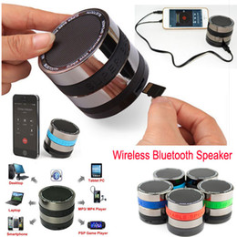 Wholesale Mini Speakers Usb Input - Portable Bluetooth Speaker Stereo Loud Super Bass Mini Wireless Speakers with AUX input Support SD Card For iPhone 6 5s samsung HTC Tablet
