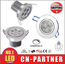 Wholesale Spot Led 21w - hot sale X10 Led Ceiling Lamps Dimmable 9W 12W 15W 21W 27W 36W Led Bulb AC85-265V Led Lights Spot light Downlights+Power Drive