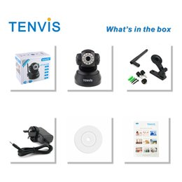 Wholesale Tenvis Wifi - FREE SHIPPING TENVIS WIRELESS IP CAMERA PAN TILT BABY PET HOME MONITOR WIFI CAM IPHONE ANDROID IP Camera JPT3815W