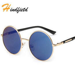 Wholesale Cool Baby Sunglasses - Hindfield Fashion Round Cute Brand Designer Child Sunglasses Anti-uv Baby Vintage Glasses Girl Cool Eyewear Boys Kids Oculos