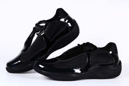 2020 scarpe americane Italian Designer Uomo Nero Scarpe Casual Moda Brevetto Con Mesh Sneaker Scarpe sportive Uomo Scarpe American Cup Taglia 39-46 Tendenze Zapatos sconti scarpe americane