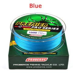 2018 Vente Chaude 4 Tresse 100 Mètre Ligne De Pêche Jaune Bleu Rouge Gris Vert PE Ligne 0.4 # -10 # Tresse Ligne De Pêche ? partir de fabricateur