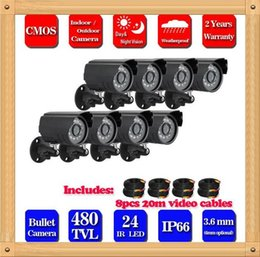 """Wholesale Security Camera Outdoor Housings - CIA- 8pcs lots 1 3"""" 480TVL High Quality ABS Plastic House CMOS Color CCTV Security Camera Weatherproof Outdoor Bullet Camera"""