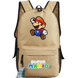 Wholesale red tube game - Nice backpack Super mario day pack Tube worker school bag Game packsack Quality rucksack Sport schoolbag Outdoor daypack