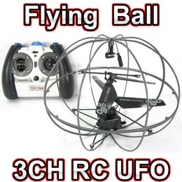 Wholesale Channel Ball - Free shipping 3CH RC remote radio control mini Flying fly 777-286 UFO ball quadcopter drone helicopter toy
