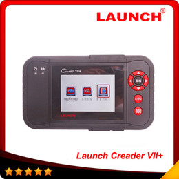 Wholesale russian land - Multi-brand cars 100% original Launch CreaderVII+ auto code reader scanner same function with CRP123 free shipping