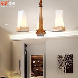 Canada Minimalist Solid Wood Light Ceiling Pendant Lightings Chinese Style Dining  Room Light E27 LED Study