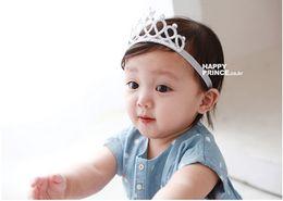 Wholesale Snow Headband - Snow Queen Glitter Crown Girls Headband Baby Fashion Hairband Tiara Princess Novelty New Silver Red Head Hair Accessories
