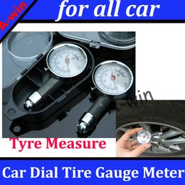 Wholesale Tyre Measure Tools - Wholesale-Metal Tire Gauge Pressure Measure Tool for all car Car Auto Dial Tyre Meter Precision High quality