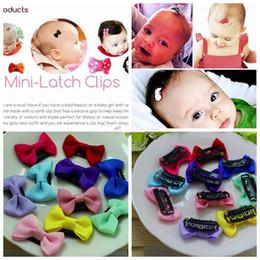 Wholesale cute small newborn babies - Newborn Bow Clips Infant Cute Polka dot Printed Mini Small Hair Clips Baby Girls Hairpins Little Hair Accessories