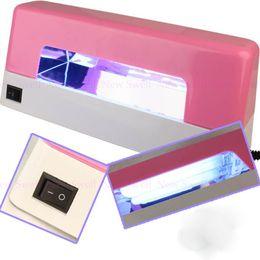 Wholesale Uv Lamp Acrylic Powder Kit - Wholesale-Nail Kit Acrylic Powder UV Gel Full Set Brush Pen UV Lamp Nail Art DIY Manicure Kit