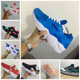 Wholesale Rose Gold Spikes - Hot Sale Air Huarache Running Shoes For Men Women Rose Gold High Quality Sneakers Triple Huaraches Trainers huraches Sport Shoes