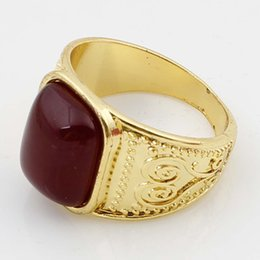 Wholesale Lowest Priced Gold Rings - Hot Sale High Quality Women Accessories Rings Gold Plated Red Black Crystal Water Drop Shape Fashion Rings Low Price for Women