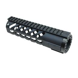 Wholesale Float Bracket - Funpowerland High quality Keymod Tactical 7'' Carbine Free Floating Handguard Mount Bracket with Detachable Rails BLACK Free Shipping
