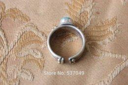 Wholesale Cheap Tibetan Jewelry - Tibetan jewelry Nepal Jewelry Ethnic Tibet Brass Turquoise Open Back Ring Women Ring (16000210) Rings Cheap Rings