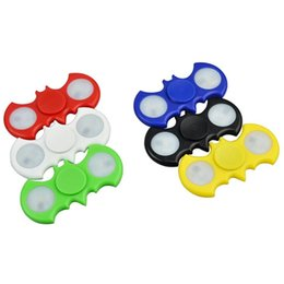 Wholesale Wholesale Tip Up Lights - Colorful LED hand spinners lights Light Up toys fidget spinner and stress toys Decompression Fingers Tip Tops Toys