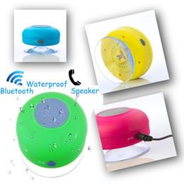 Wholesale Pool Car - Waterproof Portable Wireless Bluetooth 3.0 Mini HIFI Speaker Shower Pool Car handsfree Mic 6 color option free shipping DHL JF-3