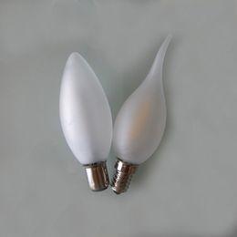 Wholesale Dimmable Led Candelabras - Frost Led Candle Bulbs 2W 4W Dimmable C35 Candelabra Bulb E27 B22 E14 110V 220V Decorative Retro Led Filament Lamp Antique Indoor Lighting