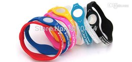 Wholesale Ion Power Silicone Energy Band - Wholesale-Power Energy Hologram Bracelets Wristbands Balance Ion Magnetic Therapy Fashion Silicone Bands