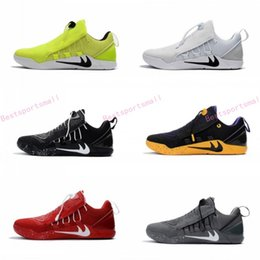 Wholesale Volt Outdoor Lighting - 2017 Newest KOBE A.D NXT 12 Wolf Grey Men's Basketball Shoes White Triple Black Dark KOBE 11 AD NXT Volt Zoom Sport Sneakers High Quality