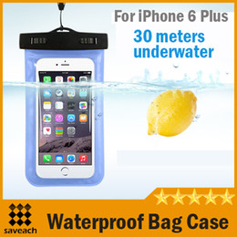 Wholesale Iphone5 Case Purple - 8 Colors Waterproof iphone 6 plus case Universal Pouch Bag Case Diving case For iphone5 5s samsung S5 NOTE4 cellphone waterproof bag case