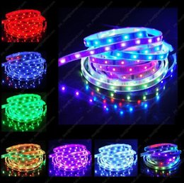 Wholesale Dream Controller - rgb led strip 5050 waterproof led tape IP67 5M 12v 150LEDs 6803 IC controller dream magic color tiras fita led + 133 Program