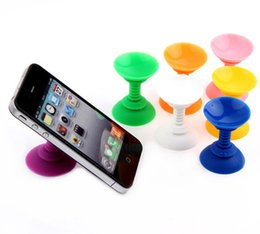 Wholesale Double Sided Suction Sucker - Fashion Silicone Double Sided Suction Cup Holder Sucker Stand For Mobile Phones Color Random order<$18 no tracking