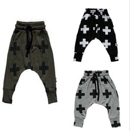 Wholesale Wholesale Leggings For Toddlers - new Girls Boy Toddler Child Fashion Boys Pants trousers leggings Cross Star hip hop Children Harem Pants For Trousers Baby Clothes 56