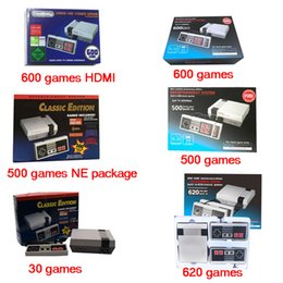 Wholesale Mini Usb Controller - Gift Classic Game TV Video Handheld Game Console Entertainment System Built-in 30 600 500 620 Classic Games for NES mini Game