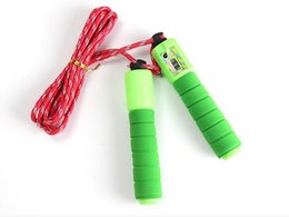 Wholesale Wholesale Weighted Jump Ropes - 2017 Electronic Counting Jump Rope Skipping Rope Gym Fitness Losing Weight Jump Rope Sports Exercise Equipment 2.8m