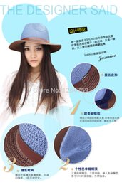 Wholesale Simple Straw Hats - Wholesale-women or men casual hat simple sunhat new stylish lady cap 2015 straw sunbonnet beautiful hat!free shipping!