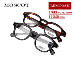 Wholesale Round Sun - Moscot 1915 sunglasses Brand designer 44 46 49mm Lemtosh johnny depp glasses AAAAA+ Quality round polarized sun glasses with original case