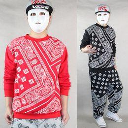 Wholesale La Bandana - Wholesale-Pullover Sweatshirt Blazers Man Brand RHUDE Autumn Winter Fleece Bandana hip hop hiphop outerwear casual hoodie coat LA ktz
