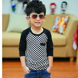 Wholesale T Shirts For Boys Wears - 4-9Y boys tee boys cotton T shirt tee top kids clothes cotton fashion clothing for children wear