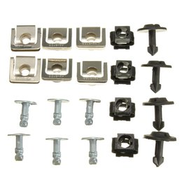Wholesale Set Undertray Guard Engine Under Cover Fixing Clips Screw KIT For AUDI A4 A6
