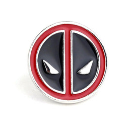 Wholesale indian figures - cute alloy party children Anime Cartoon Deadpool Brooches Deadpool mask pin Deadpool mask Brooch pins Corsage Thorn 2018 xz054