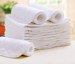 Wholesale free infant diapers - Free shipping 10pcs lot Wholesale 3 layer high quality Inserts Baby Diapers infant nappy changing