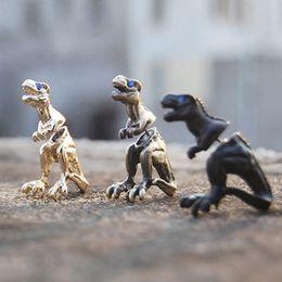 Jóia dos dinossauros on-line-Moda Harajuku liga estereoscópico dragão dinossauro piercing brincos do parafuso prisioneiro de ouvido clipe declaração jóias para mulheres homens punk jóias 170141