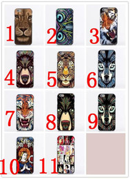 Wholesale Animal Cases For Iphone 4s - For Iphone 6 Cases Animal Face Coloured Drawing Pattern Design Case Back Cover for iPhone 4S 5 5S 5C 6G 6 Plus DHL