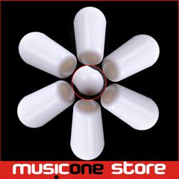 Perillas para interruptores online-Guitarra Platic Switch Tip Knob Cap 3.5mm blanco guitarra piezas venta al por mayor envío gratuito MU1233-3